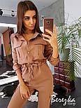 Женский стильный комбинезон брючный с накладными карманами (в расцветках), фото 6