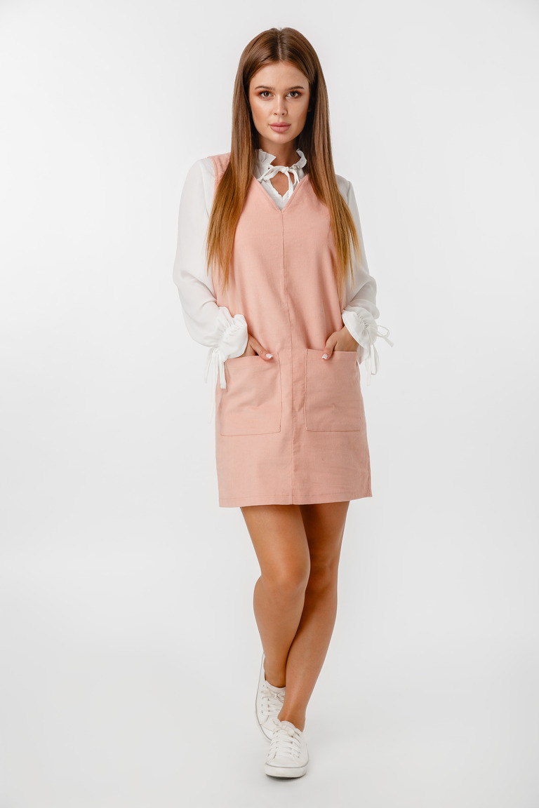 Сарафан LiLove 1-023-2 46 розовый