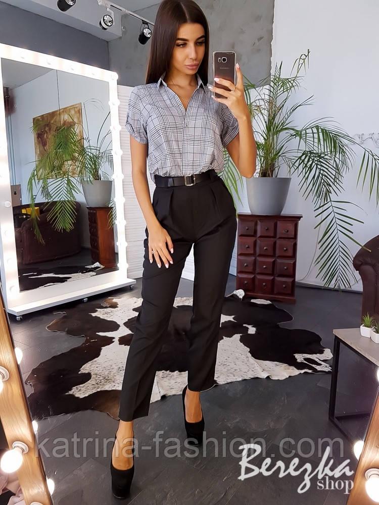 Женский стильный комплект: рубашка и брюками