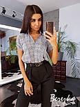 Женский стильный комплект: рубашка и брюками, фото 3