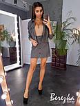 Женский стильный вельтовый костюм: бомбер и юбка на пуговицах (в расцветках), фото 9