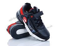 Кроссовки детские Эльффей 8131D-2 black-red (36-40) - купить оптом на 7км в одессе