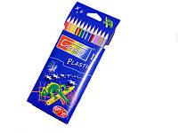 Цветные карандаши (с пластиковым корпусом-12 цв)