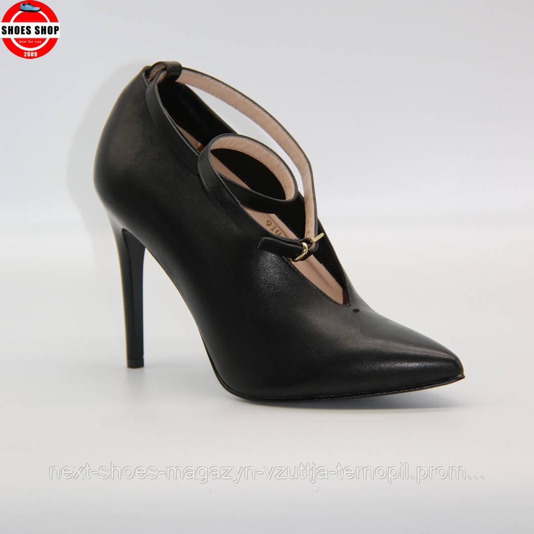 Жіночі туфлі Sala (Польща) чорного кольору. Красиві та комфортні. Стиль: Вікторія Бекхем
