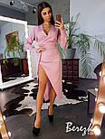 Женское элегантное платье с разрезом с эффектом на запах (в расцветках), фото 4