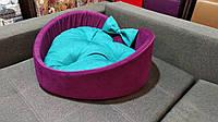 Лежаки для собак и кошек Сердце Премиум класса 55х55 см.Лежанка,Лежаки,лежак,лежак для кошки,лежак д