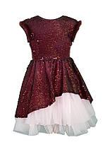 Нарядное платье для девочки Daga Польша М-6925 Бордовый Верх - 100% полиэстер, подкладка - Оплачивая для 6