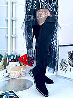 Крутые кожаные ботфорты GIVENCHY (реплика), фото 1