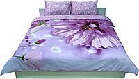 Комплект постельного белья РУНО сатин евро 205х225 (845.137К_20-1319 Fuchsia)