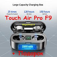 Беспроводные Bluetooth наушники Touch Air Pro F9. Индикатор заряда - LED Power Display