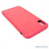 "Накладка Apple Leather iPhone Xs Max {6.5 ""} peony pink [копія], фото 3"