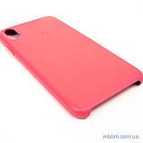 "Накладка Apple Leather iPhone Xs Max {6.5 ""} peony pink [копія], фото 4"