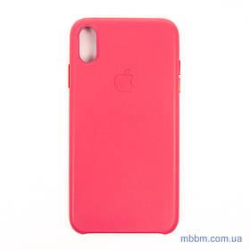 "Накладка Apple Leather iPhone Xs Max {6.5 ""} peony pink [копія]"