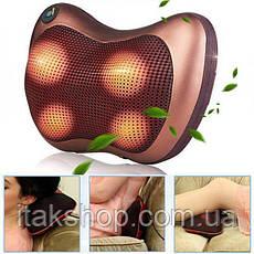 Роликовый массажер для спины и шеи Massage pillow CHM-8028 Массажная подушка 12 роликов, фото 2