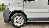 Накладки на арки Nissan Primastar 2007-2015 (4 шт. ABS-пластик) Черные
