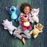 Disney Мягкая игрушка собака Ролли Обнимашка - Дружные мопсы, 33см, фото 3
