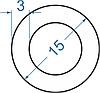 Алюмінієва труба кругла ø 15x3 мм з покриттям. Порізка в розмір.