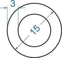 Алюмінієва труба кругла ø 15x3 мм без покриття. Порізка в розмір.