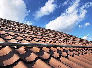 Монтаж алюминиевых профилей на крыше.
