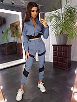 Спортивная курточка и брюки-карго с и контрастными вставками, фото 1