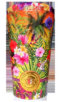 Чай Chelton Ваза с бутонами роз и лепестками цветов Золотая лагуна черный листовой 100 г в жестяной банке