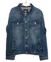 1005-3 R.Kroos куртка мужская батальная джинсовая синяя осеняя котоновая (L-5XL, 6 шт.)