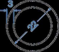 Алюмінієва труба кругла ø 22x3 мм з покриттям. Порізка в розмір