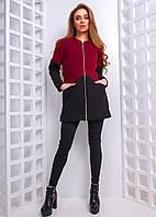 Кашемировое пальто в стиле колор блок