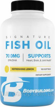 Омега-3 рыбий жир Bodybuilding Signature Signature Fish Oil 100 капс., фото 2