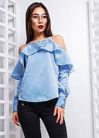 Блузка с открытыми плечами и оборками, фото 1