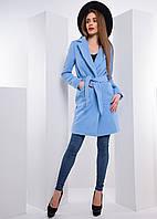 Кашемировое пальто с запахом и поясом, фото 1