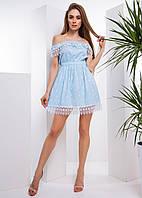 Коттоновое платье с открытыми плечами, фото 1