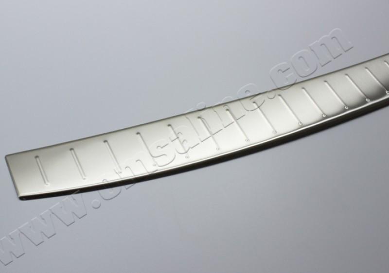 Накладки на задний бампер Fiat Fiorino, Qubo 2008- (нерж.) Матовый Omsa