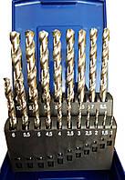 Спиральные сверла шлифованные из быстрорежущей стали HSSнабор 19 штук ECEF ECEF 461119RP