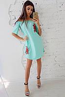Свободное платье с вышивкой, фото 1