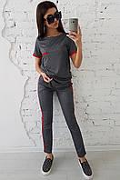 Женский трикотажный костюм с лампасами, фото 1