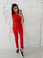 Красный костюм без рукавов, фото 1