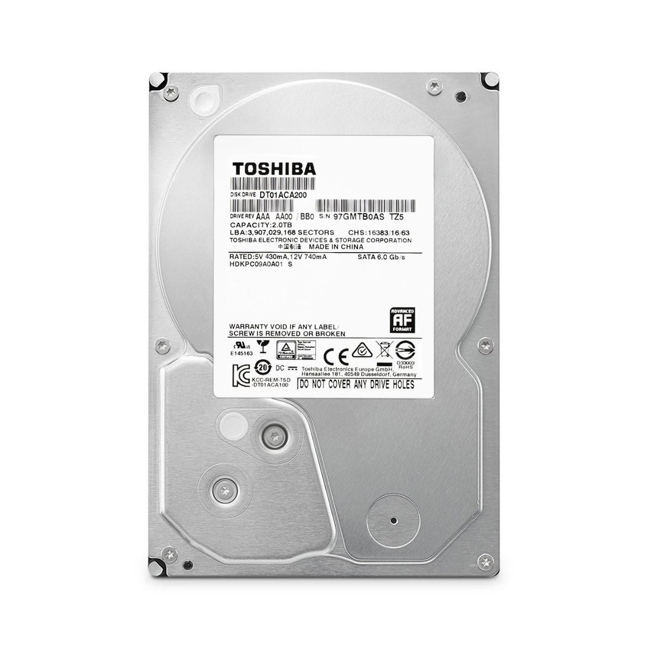 """Жесткий диск Toshiba DT01ACA200 2TB 3.5"""" 7200RPM 64MB SATAIII  Б/У"""