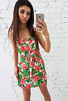 Платье на бретелях с цветочным рисунком, фото 1