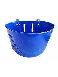 Корзина пластиковая синяя передняя для детского велосипеда HB-02 под любой диаметр колеса