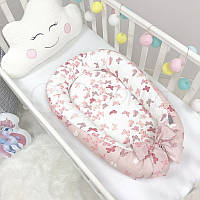 Кокон Позиционер, Baby Design премиум Бабочки, фото 1