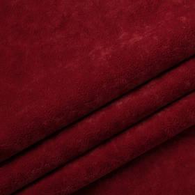 Ткань антикоготь флок Финт красного цвета