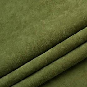 Ткань антикоготь флок Финт оливкового цвета