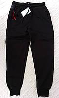 Трикотажные спортивные штаны, цвет черный, рост 128-164 см., 280/250 (цена за 1 шт. + 30 гр)