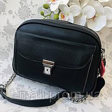 Женская сумка кожаная черная (91278)