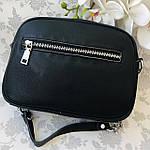 Женская сумка кожаная черная (91278), фото 6
