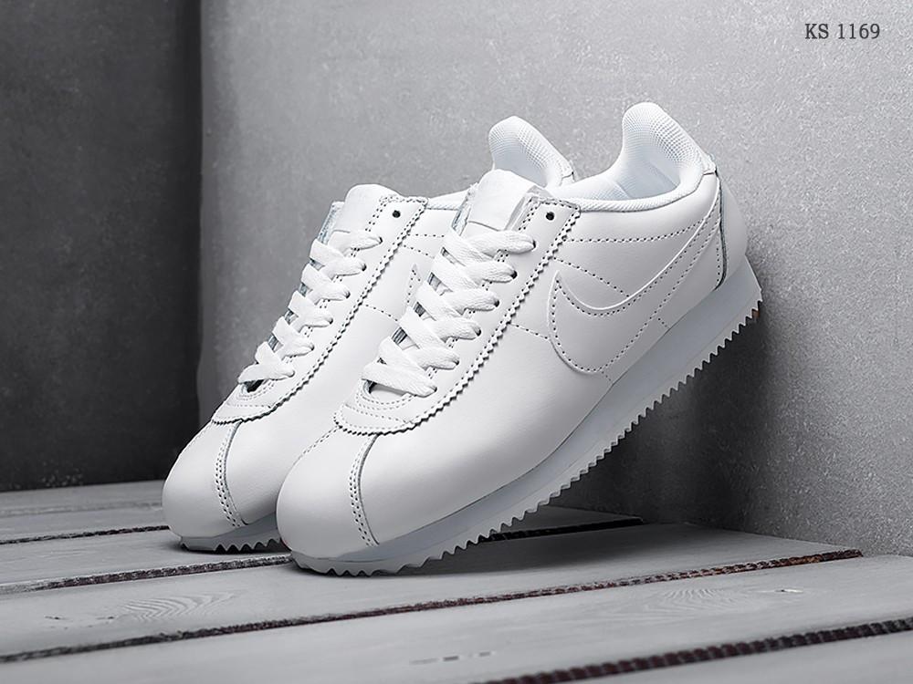 huge selection of d2672 600c3 Мужские кроссовки в стиле Nike Cortez, кожа, пена, белые 41 (26 см)