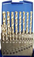 Спиральные сверла шлифованные из быстрорежущей стали HSS-Gнабор 19 штук ECEF 51119RP
