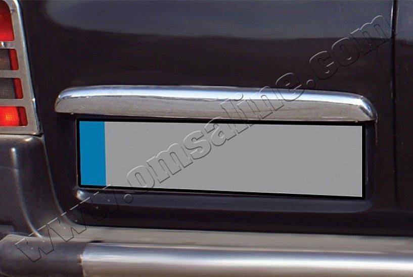 Накладка над номером Peugeot Partner (1996-2008) (нерж.) - 2-дверн.Omsa