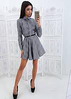 Платье в клеточку из костюмки тиар (без пояса), фото 1